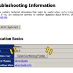 Firefox profile directory
